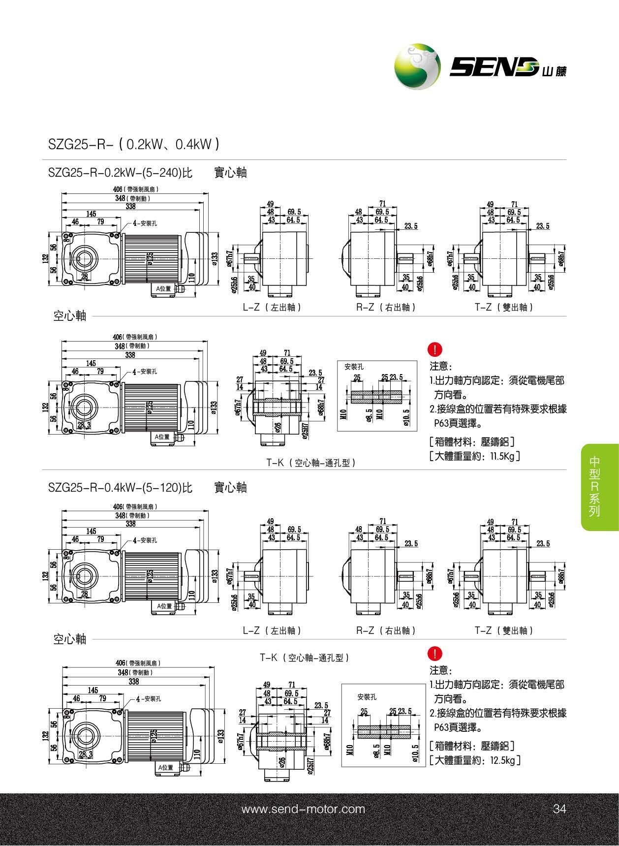 25R直交轴减速电机